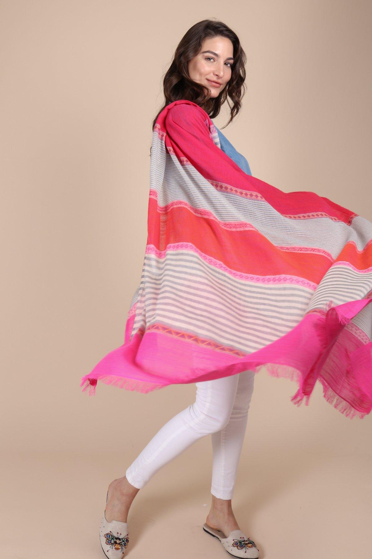 printed scarf saachi